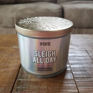 "PINK VS ""Sleigh All Day"" 3-Wick Candle"